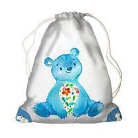 Детский рюкзак-мешок для игрушек,обуви Мишка веселый