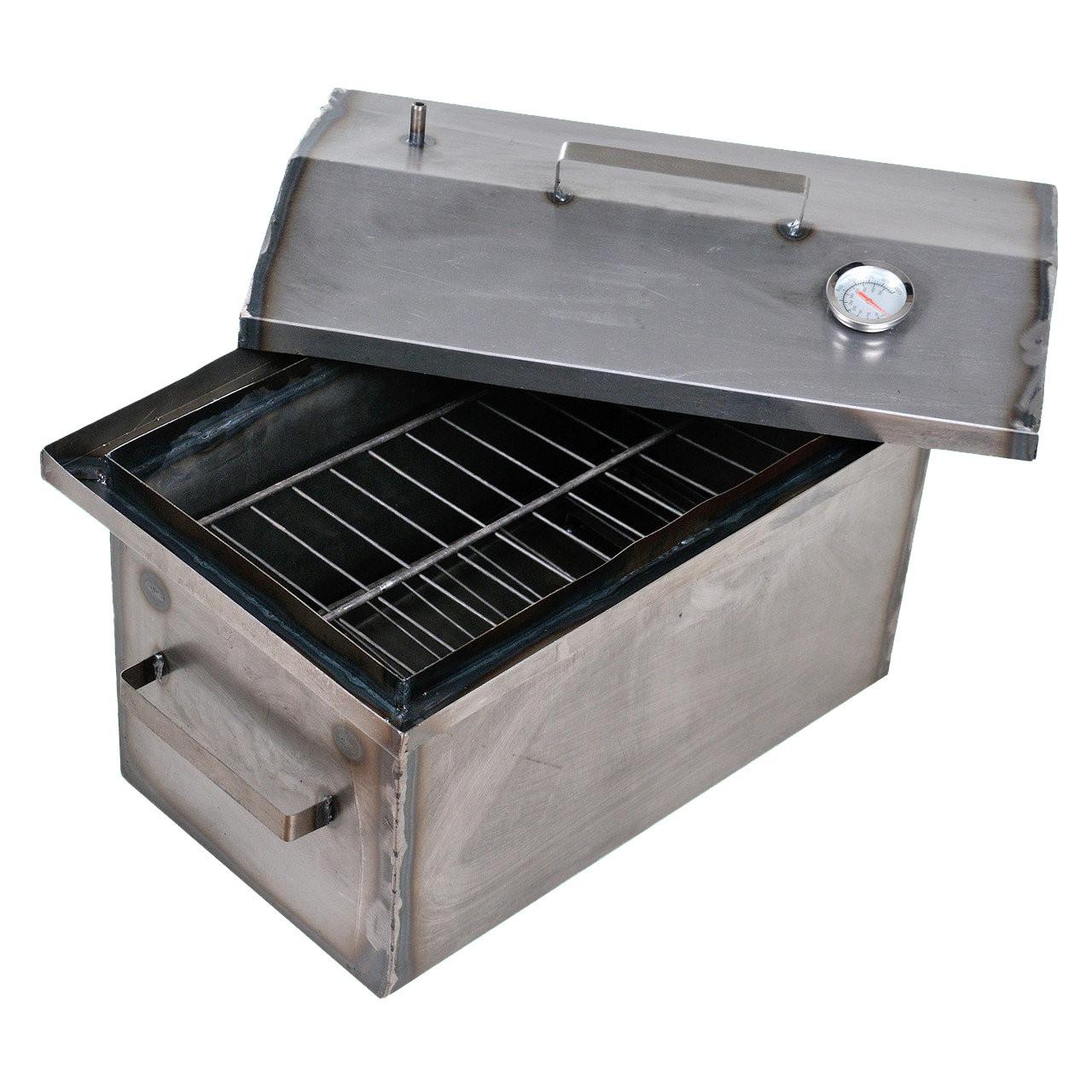 Коптильня горячего копчения 2мм 520х310х280мм с термометром (коптилка,каптилка)