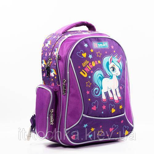 Рюкзак школьный для девочки smart zz-02 Эдинорожка unicorn 1 Вересня (558184)