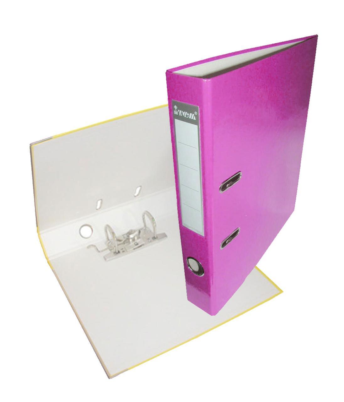 Папка-регистратор, А4, 50 мм, РР-покрытие, кармашек для этикетки, металлический кант