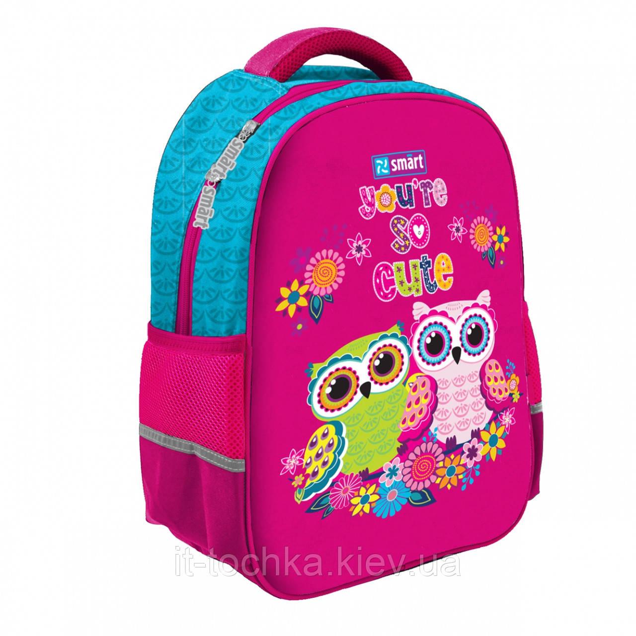 Рюкзак школьный для девочки smart Совы sm-02 owls 1 Вересня (558180)