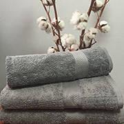 Махровое полотенце, 30*50 , 100% хлопок 420 гр/м2, Пакистан, Темный серый, Без борда