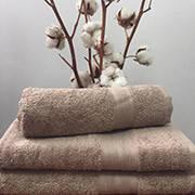 Махровое полотенце 30х50, 100% хлопок 420 гр/м2, Пакистан, Кофейный, Без борда