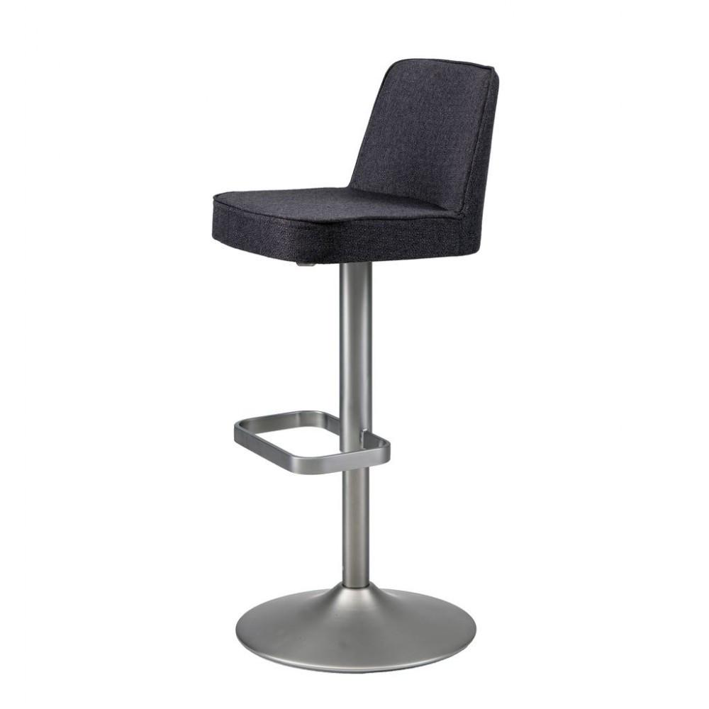 Hardy (Харди) регулируемый барный стул текстиль серый графит
