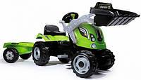 Детский трактор на педалях с прицепом Farmer Max Smoby 710109