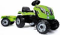 Детский трактор на педалях з прицепом Farmer XL Green Smoby 710111