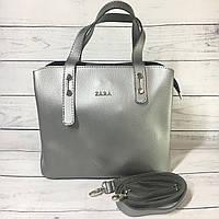 Женская сумка Zara (Зара), серебристая ( код: IBG216S2 ), фото 1