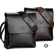 Качественная мужская сумка барсетка через плечо Polo Videng 2 цвета в наличии