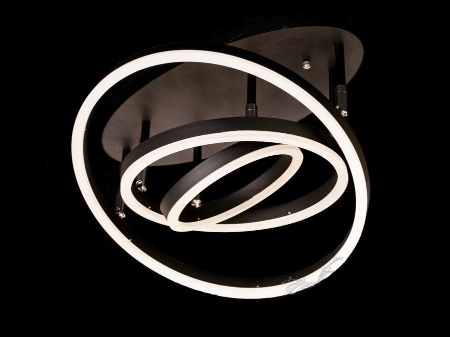 Потолочная LED-люстра с диммером до 18 квадратных цвет белый 75W Diasha&55010/3WH dimmer