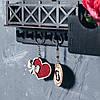 """Ключница """"Здесь живет счастье"""" (с балконом) венге, фото 4"""