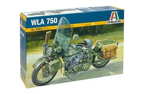 WLA 750 Harley Davidson. Сборная модель мотоцикла в масштабе 1/9. ITALERI 7401
