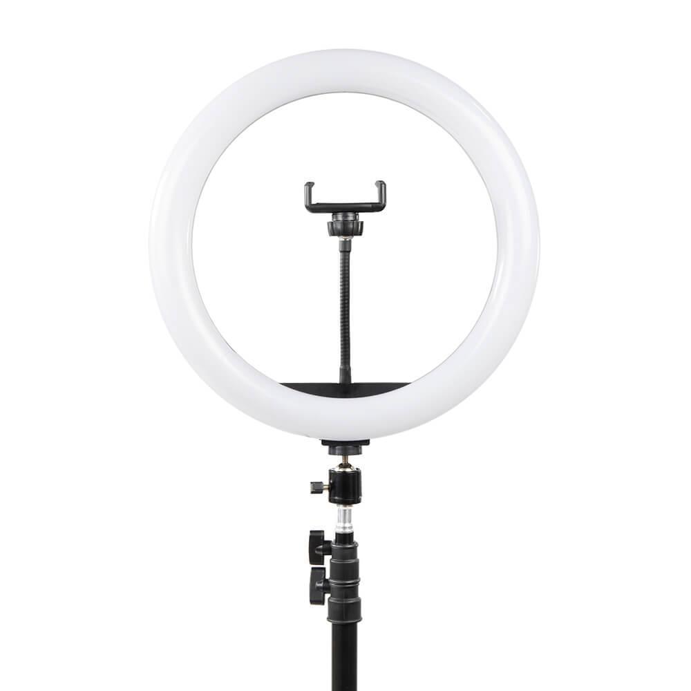 Кольцевая светодиодная лампа 33 см на штативе 210 см. + пульт блютуз . Селфи кольцо.