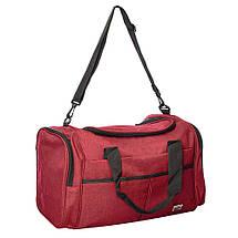 Спортивная сумка (Серая) 50х26х24 см, фото 3