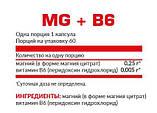Магний Б6 Nosorog Nutrition MgB6 60caps, фото 2