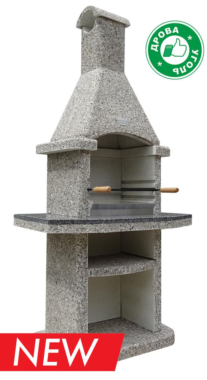 Разборной камин-барбекю ELMAS Классик Люкс бетон