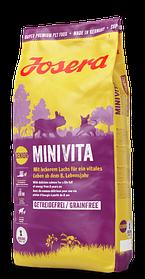 Josera MiniVita 0,9кг - беззерновой корм с лососем для пожилых собак мелких пород от 8-ми лет