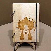 Скетчбук Fullmetal Alchemist. Блокнот с деревянной обложкой Стальной алхимик., фото 1
