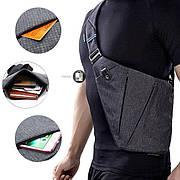 Универсальная мужская сумка через плечо Cross Body Style Grey Серая