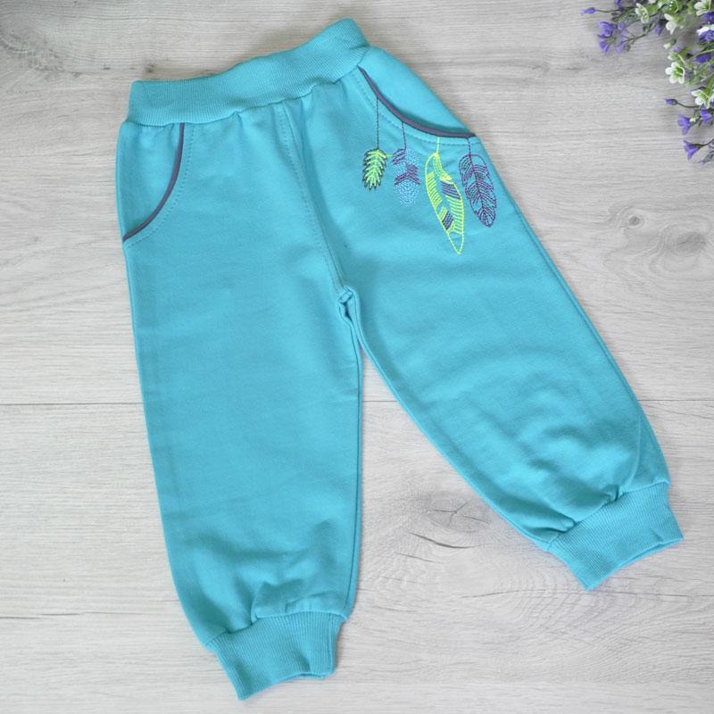 Детские  штаны из трикотажа,  для девочек 1, 2,3,4 года (4 ед в уп)