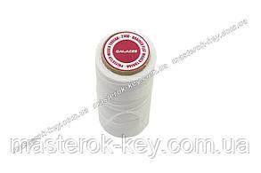Galaces 1.00мм белый (S000) плоский шнур вощёный по коже (картон)