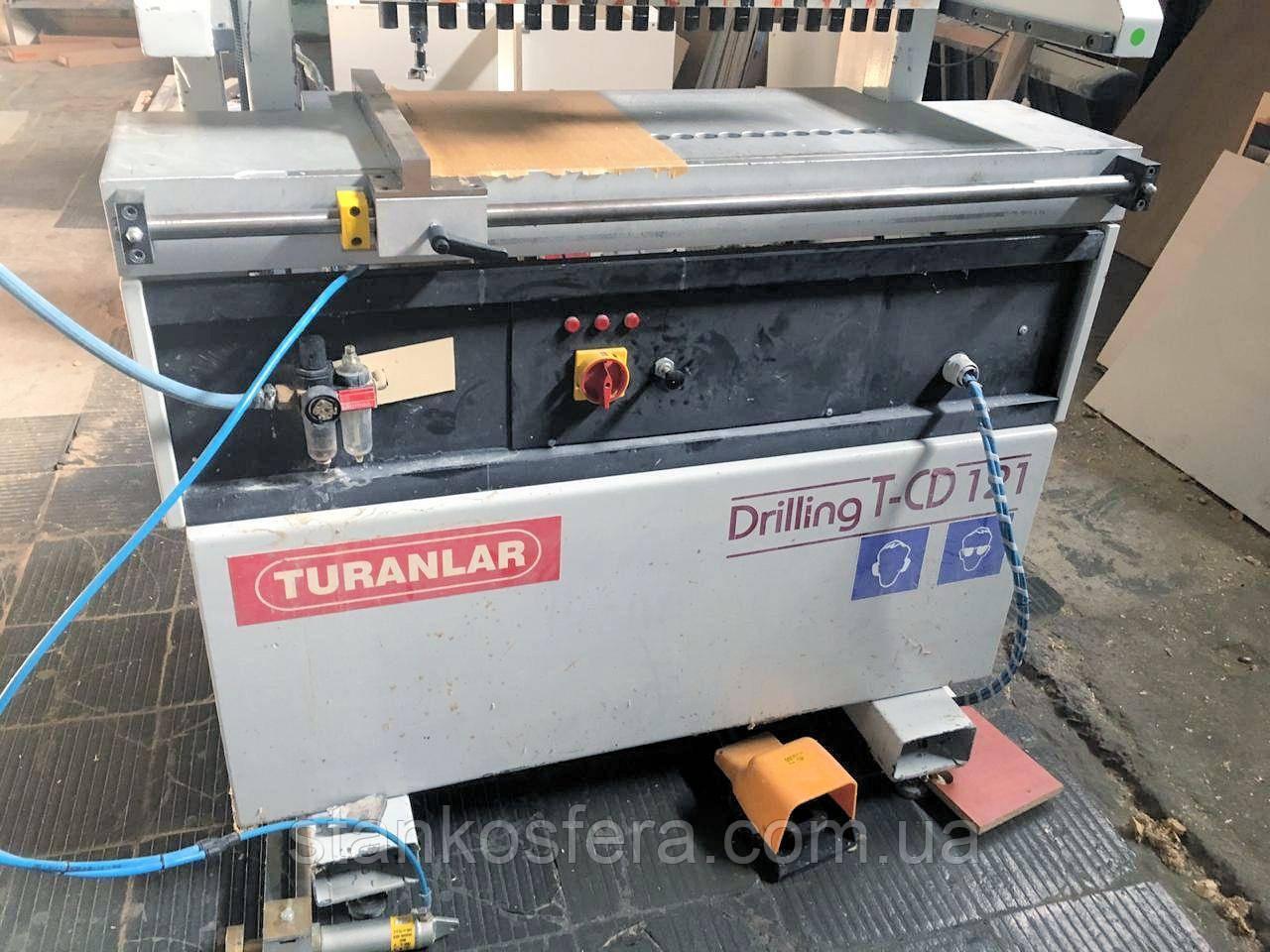 Turanlar TCD-121 свердлильно-присадочний верстат бу для виготовлення меблів