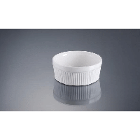 Форма для крем-бруле, суфле 12 см., 350 мл. фарфоровая, белая ALT PORCELAIN
