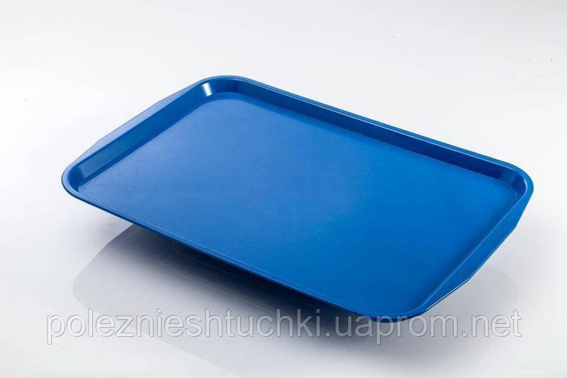 Поднос прямоугольный 31х41см, поликарбонат синий, Fast Food, GastroPlast