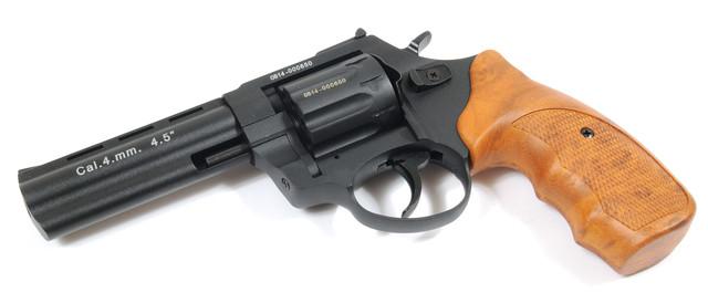 револьвер під патрон флобера stalker 4.5 wood