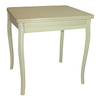 Стол обеденный раскладной Тавол Формади 65смх75смх75см с деревянными резными ножками Молочный, фото 1