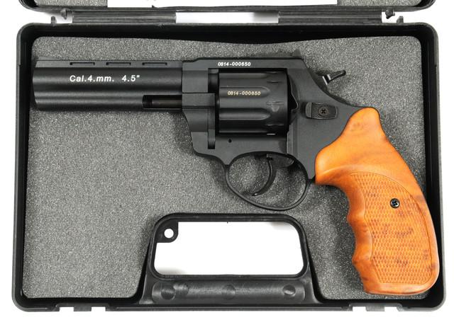 револьвер флобера stalker 4.5 wood в кейсі