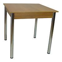 Стол Тавол Квадрат 75 см х 75 см х 75 см ноги хром метал Орех, фото 1