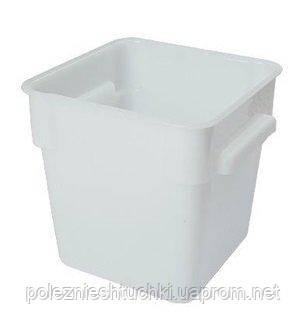 Контейнер для хранения квадратный 22,5х22,5х23 см, 8 л. поликарбонатовый, белый FoREST