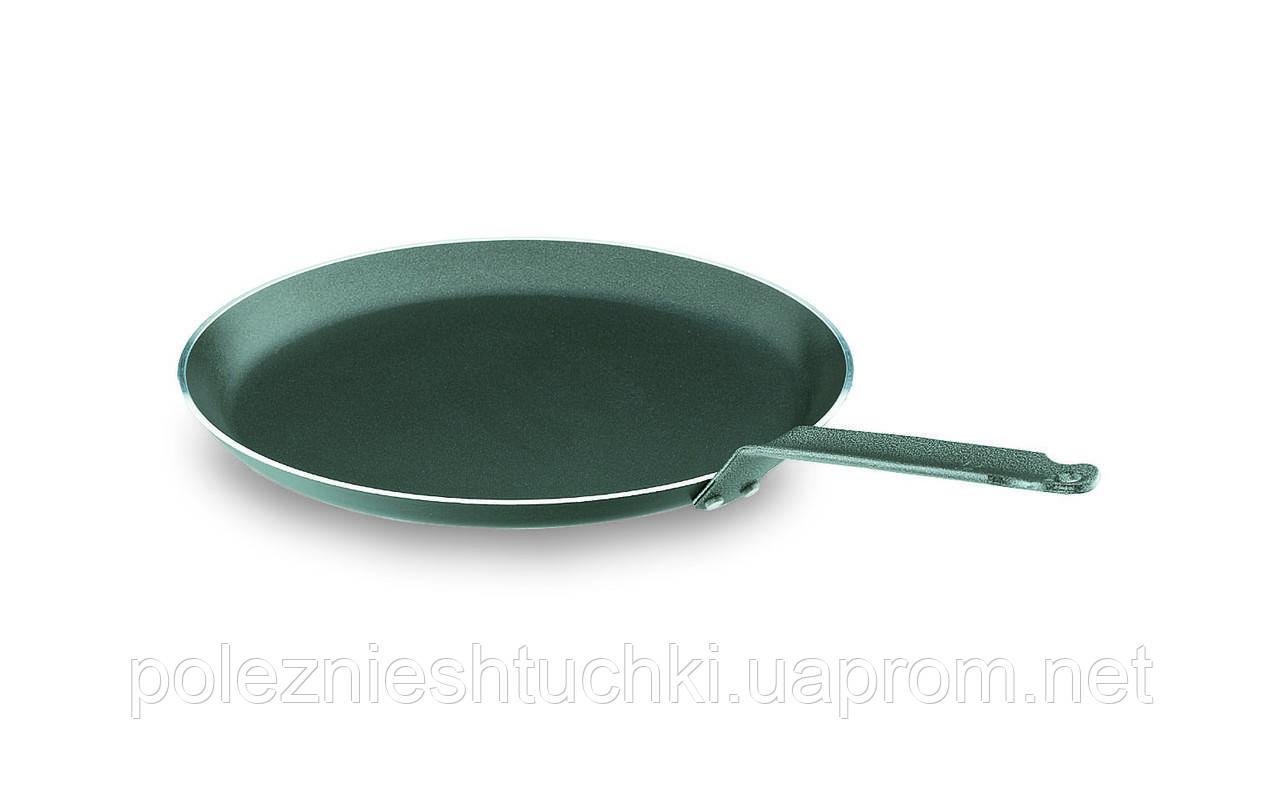 Сковорода Lacor для блинов с антипригарным покрытием 26х2,2 см. алюминиевая с ручкой (23326)