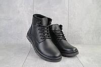 Мужские ботинки кожаные зимние черные Multi-shoes Lider