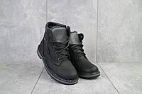 Подростковые ботинки кожаные зимние черные-серые Levons 131