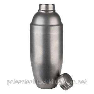 Шейкер для коктейлей матовый 0,7 л, d-90 мм, h-230 мм, нержавеющая сталь