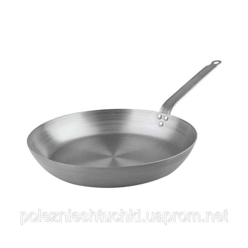 Сковорода Lacor черная сталь 32х5,3 см. с ручкой (63632)