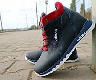 Детские кроссовки кожаные зимние синие-красные CrosSav z 39