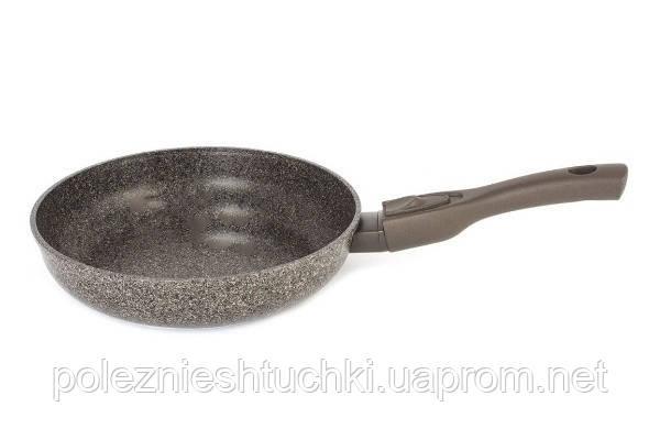 Сковорода Биол Granite Brown индукционная антипригарная 24х5,5 см. алюминиевая (24073I)