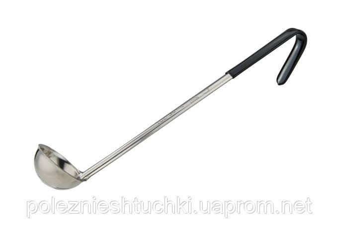 Ложка моноблок разливная 30 мл., 30 см. нержавеющая сталь с черной ручкой Prime, Winco