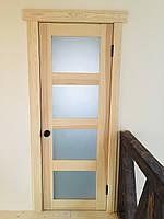 Двери с витражами скандинавский стиль (межкомнатные)
