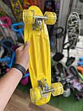 Скейт Penny Board, с широкими колесами Пенни борд, детский , от 5 лет расцветка Бананы, фото 3