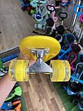 Скейт Penny Board, с широкими колесами Пенни борд, детский , от 5 лет расцветка Бананы, фото 4