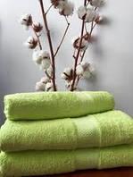 Махровое полотенце 50х90, 100% хлопок 420 гр/м2, Пакистан, Салат