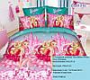 Подростковый полуторный комплект постельного белья Барби, ранфорс 100% хлопок, Украина