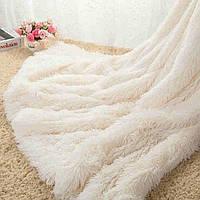 Плед покрывало на кровать, меховое Травка Мишка Страус Пушистик, 200х220(евро), подарок на свадьбу, юбилей