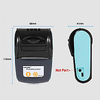Мобильный термопринтер чеков для смартфона Goojprt PT-120 + чехол Голубой (100621)