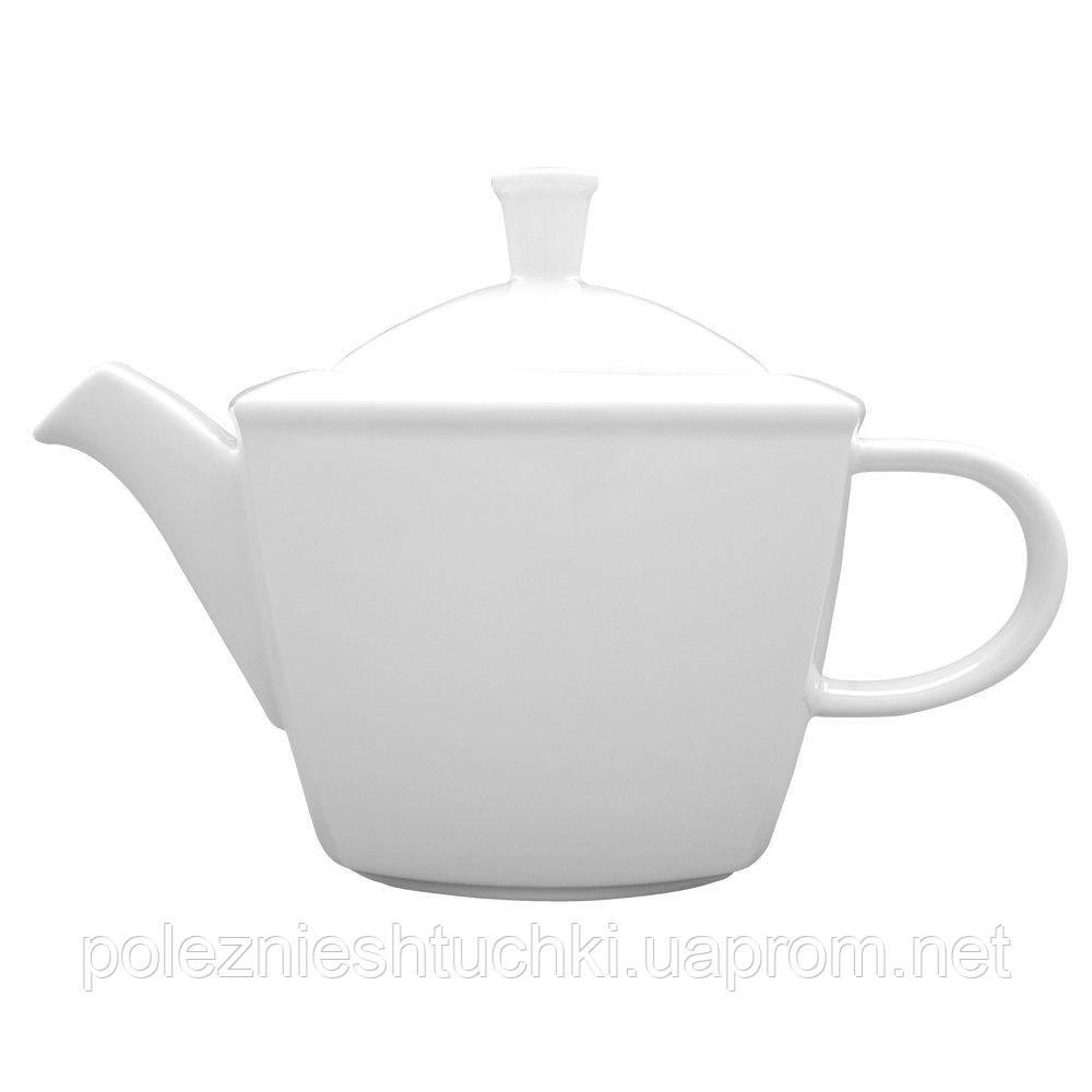 Чайник заварочный 400 мл. фарфоровый, белый Victoria, Lubiana