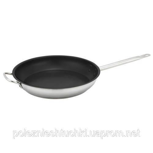 Сковорода с дополнительной ручкой и антипригарным покрытием, нержавеющая сталь, 30 см