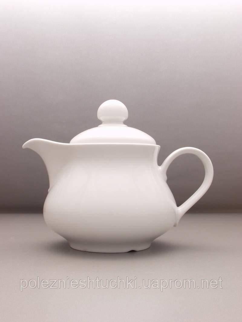 Чайник 400 мл. фарфоровый, белый Wersal, Lubiana